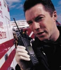 Motorola two-way portables are popular with emergency medical service personnel.