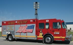 The aerial has other duties than motor vehicle accidents and tool placement will be thought out so they are available.