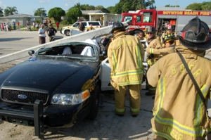 Boynton Beach Special Ops Firefighters Cut Through Extreme Obstacles to Extricate Three PD Trauma Patients