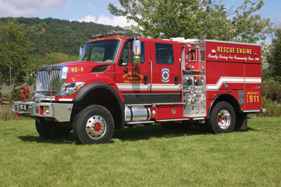 (3) The Capon Springs (WV) Volunteer Fire & Rescue Inc. chose Smeal Fire Apparatus to build this Rage Type 3 wildland apparatus that does double duty as a rescue-pumper.