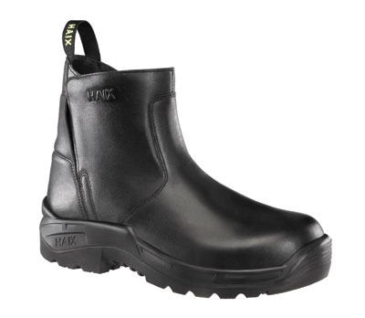 (2) Haix's line of boots includes the new Airpower R5, a six-inch slip-on- and-off station boot.