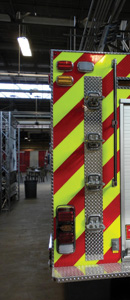 (5) Climbing to the top of a rig with access steps vertically inline with each other can be akin to climbing a pompier ladder.