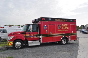(1) Wheeled Coach built this medium duty ambulance on an International TerraStar chassis for Martinsville (VA) Fire & EMS.