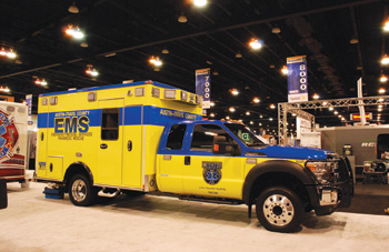 (1) Austin-Travis County (TX) EMS recently took delivery of seven ambulances made by Wheeled Coach that are fitted out with roof-mounted solar panels and auxiliary air conditioning condenser units.