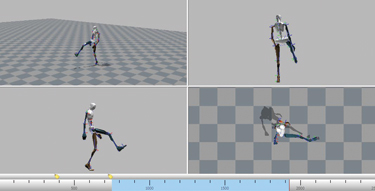 This screen capture demonstrates how a firefighter's movements can be recorded into an avatar