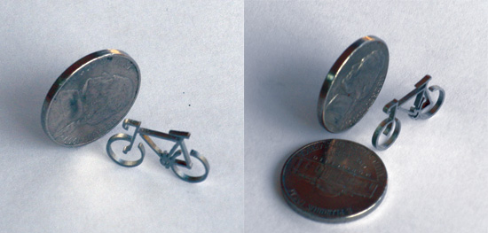 This bicycle, laser cut from a sheet of 14 gauge 304 stainless steel, is used by one manufacturer to demonstrate the exactness achievable with precision tooling