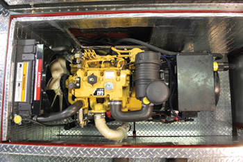 The Smeal Fire Apparatus APU is designated the SG-09, which is a nine-kW generating unit