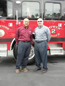 Executive vice president Dennis Carvalho and Alan Hollister, E-ONE's eastern region sales director