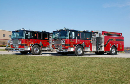 Seagrave-Carmel (IN) Fire Department, two top-mount pumpers
