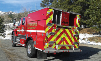 Smeal Fire Apparatus built a Rage wildland unit with a Hale 500-gpm pump, a 500-gallon water tank, and a 20-gallon Class A foam tank for the Lefthand Fire Protection District.