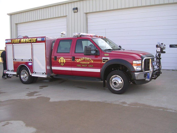 This wildland Type VI unit was built by RocketFire for the Danforth Township Fire Protection District.