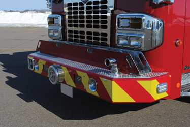 removable tray on a pumper