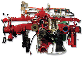 EMBC, a two-stage 2,000-gpm pump with a 220-cfm air compressor