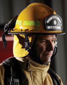 Legacy 5, a fiberglass modern style helmet