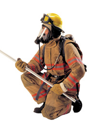 Bullard's modern style structural firefighting helmet
