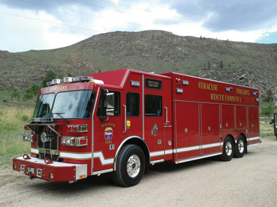 The Syracuse (NY) Fire Department chose Sutphen to build this traditional walk-around heavy rescue