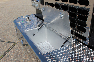 front bumper of the vehicle