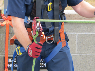 Here the rope is in the maximum friction position