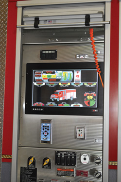 Rosenbauer is developing a computerized pump panel with a three-dimensional screen