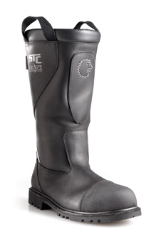 Lion's Lock-Fit Ankle Support system in its Marshall pull-on leather structural firefighting boots