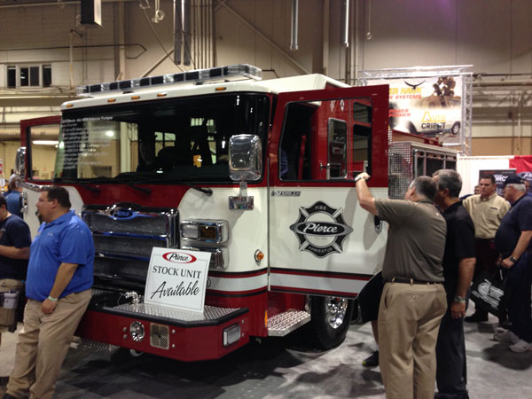 The new Pierce Enforcer fire apparatus introduced at FDIC 2014 is making the rounds. Here it is at Fire Expo 2014, Harrisburg, PA.