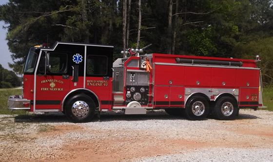Pumper Built on a 1999 Spartan Cab and Chassis