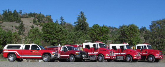 Redway (CA) Fire Protection District (RFPD) Fleet