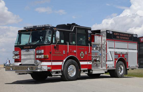Pierce Arrow XT Pumper for North Vancouver City Fire Department