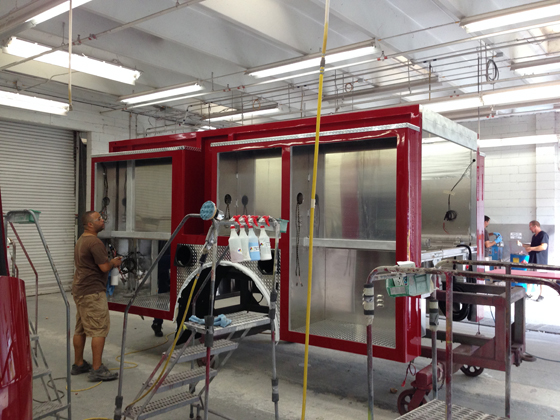 E-ONE Painted Body at E-ONE's Ocala, Florida Factory