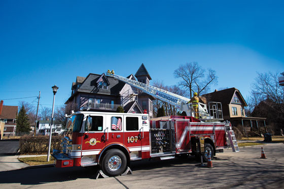 New Pierce Ascendant Aerial Ladder Delivers 107-Foot Vertical Reach on a Single Rear Axle Configuration