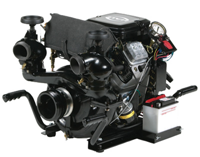 3 The HP400-B18 portable pump that Hale Products makes is typically used for water transfer. This model is powered by an 18-horsepower Briggs & Stratton engine but can accommodate a 23-horsepower Briggs & Stratton. (Photo courtesy of Hale Products