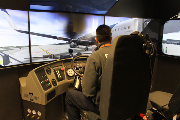 Already on duty at Chicago's O'Hare International, the Striker Simulator system is engineered to depict a nearly endless array of training scenarios for aircraft rescue and fire fighting organizations.