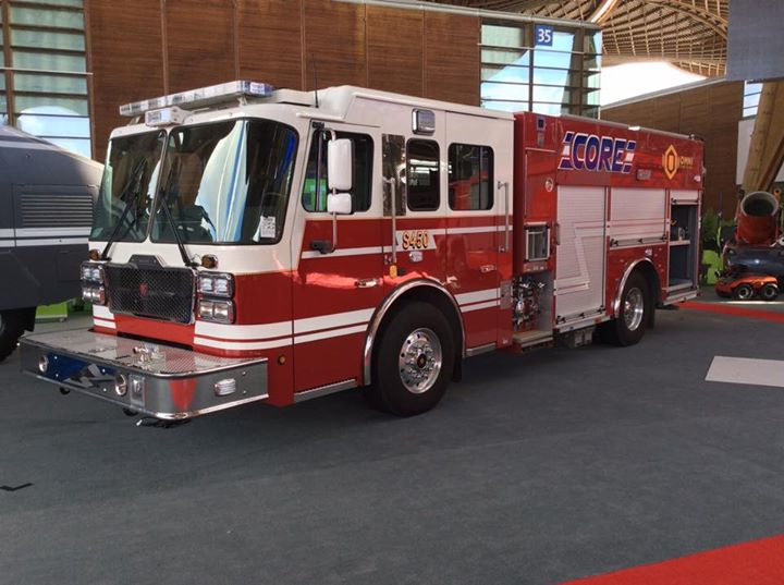 Smeal Fire Apparatus Co. and Gimaex International stepped out together at Interschutz 2015 with the display of the Smeal CORE™ Multi-Mission Pumper with OMNI™ Control System.