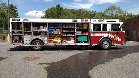 The State of Massachusetts Fire Services purchased 10 hazmat trucks from VT Hackney, all identical to the rig shown. The units are spread around the state and staffed by hazmat teams from local fire departments. (Photo courtesy of VT Hackney.)