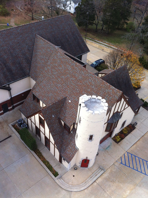 7 The Kirkwood (MO) Fire Department had The Lawrence Group renovate its Tudor-style 70-year-old fire station and put a three-bay addition onto it to house new fire apparatus. (Photo courtesy of The Lawrence Group