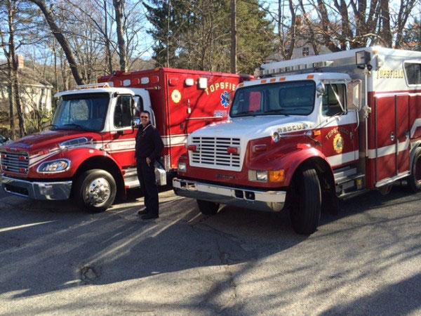 Topsfield (MA) Fire Department rescue truck