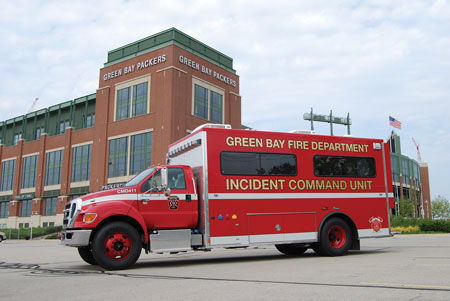 8 The Green Bay (WI) Fire Department went to Marion Body Works for this incident command vehicle built on a two-door commercial chassis. (Photo courtesy of Marion Body Works