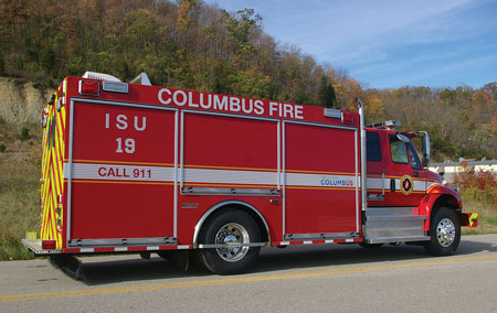 9 The Columbus (OH) Fire Department had Summit Fire Apparatus build this air and light unit on a two-door International commercial chassis. (Photo courtesy of Summit Fire Apparatus