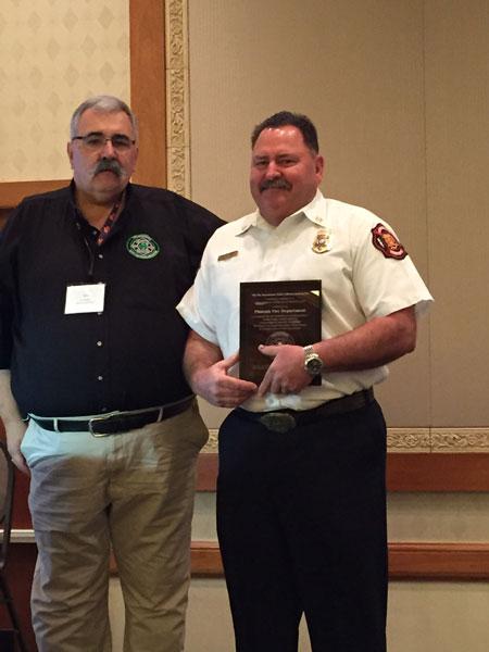 Fire Department Safety Officers Association (FDSOA) Presents Award