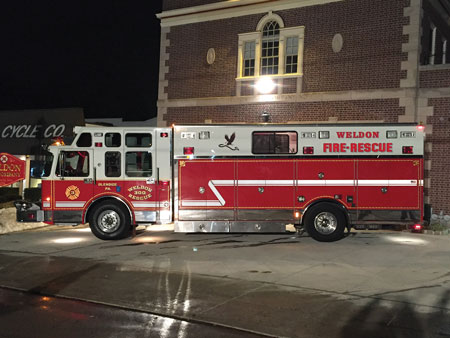 1 Members of the Weldon Fire Company in Glenside, Pennsylvania, stripped the equipment from its Spartan/Saulsbury rescue and remounted it in a Ferrara hazmat unit it borrowed from the Montgomery County (PA) Department of Public Safety in a little more than five hours. (Photos by author