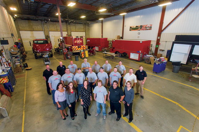 2 Midwest Fire Equipment & Repair Company operates from one location in Luverne, Minnesota. Atchison believes that having its sales team in the same building as its production facility allows constant communication between sales, engineering, and production.