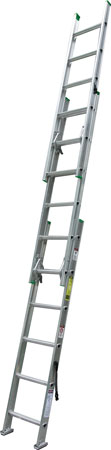 6 Werner Company makes a compact extension ladder-its 24-foot version is only nine feet long because it is made up of three sections. (Photo courtesy of Werner Company