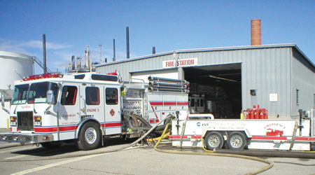 3 The ExxonMobil facility in Billings, Montana, had Emergency Apparatus Maintenance pump test its Engine 5. (Photo courtesy of Emergency Apparatus Maintenance.)