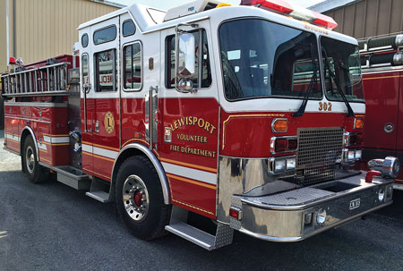 1 A preowned 1996 KME 1,250/1,000 pumper that Command Fire Apparatus sold to the Lewisport (KY) Fire Department. (Photo courtesy of Glenn Usdin, Command Fire Apparatus.)