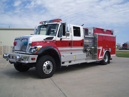 10  Diversified used apparatus available through Mid America. Most used apparatus dealers and brokers can locate and supply rigs as unique as a four-wheel-drive custom pumper to a simple pumper-tanker. (Photos courtesy of Jim Keltner, Jon's Mid America Fire Apparatus)