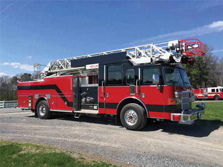 Photo 12 is a recently sold 2007 Pierce Enforcer 75-foot quint. (Photos courtesy of James Wessel, Brindlee Mountan Fire Apparatus
