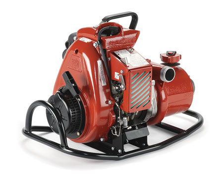 10 Mercedes Textiles makes the Wick 375 wildland pump that can be carried on a backboard and has a maximum 100-gpm flow rate. (Photo courtesy of Mercedes Textiles.)