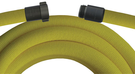 15 Mercedes Textiles makes Boost Lite booster hose out of rigid polyester that is 20 percent of the weight of traditional rubber booster hose. (Photo courtesy of Mercedes Textiles)