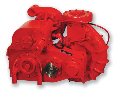 3 W.S. Darley & Company also makes two-stage main vehicle pumps for wildland use, rated from 750 to 1,500 gpm, such as this LSPH 750 model. (Photo courtesy of W.S. Darley & Co.)