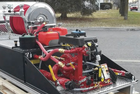 7 CET Fire Pumps's most popular wildland units are diesel-powered, such as this DP-2397-0701 unit. (Photo courtesy of CET Fire Pumps